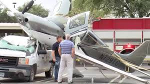 Plane Crashes On Top Of Pickup Truck In Texas Parking Lot