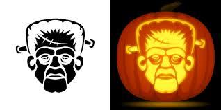 Free Frankenstein Pumpkin Stencil Printables by Free Frankenstein Pumpkin Stencil