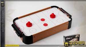 objet de bureau mini table de air hockey en bois pour la maison ou le bureau