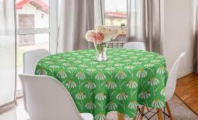 abakuhaus tischdecke kreis tischdecke abdeckung für esszimmer küche dekoration englischer garten gänseblümchen marienkäfer kaufen otto