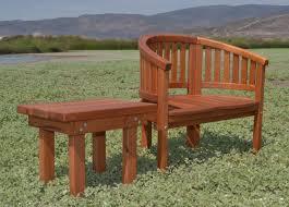 Semi Circle Patio Furniture by Wooden Semi Circle Garden Chair Custom Redwood Chair