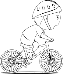 Bike Coloring Page Throughout Pages