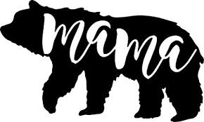 Mama Bear Decal Sticker In WHITE Kung Fu Panda 5 Inches