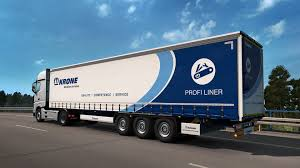 100 Euro Truck Simulator 3 2 Krone Trailer Pack ETS2 Mod