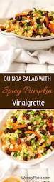 Libbys 100 Pure Pumpkin Nutritional Info by Quinoa Salad With Spicy Pumpkin Vinaigrette Wendy Polisi