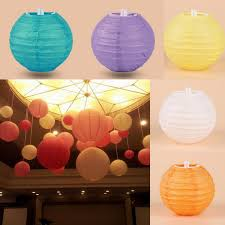 Chinese Paper Lantern Christmas Wedding Party Celebration DIY Decoration 4 10cm Round Lanterns ZWZ