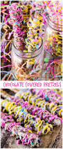 Halloween Decorated Pretzel Rods by 66 Best Pretzel Rods Images On Pinterest Chocolate Dipped