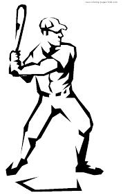 Coloring Sheet Baseball Color Page Free Printable Sheets For Kids