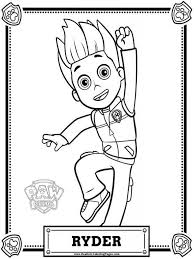 Ryder PAW Patrol Coloring Pages To Print