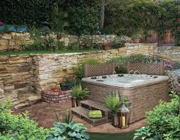 Hot Tub Landscaping For The Beginner On A Pictures With ... Hot Tub Patio Deck Plans Decoration Ideas Sexy Tubs And Spas Backyard Hot Tubs Extraordinary Amazing With Stone Masons Keys Spa Control Panel Home Outdoor Landscaping Images On Outstanding Fabulous For Decor Arrangement With Tub Patio Design Ideas Regard To Present Household Superb Part 7 Saunas Best Pinterest Diy Hottub Wood Pergola Wonderful Garden