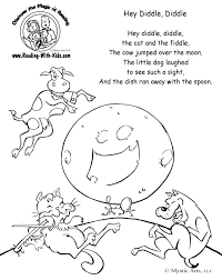 Site Contains LOTS Of Free Nursery Rhyme Printables Coloring Pages