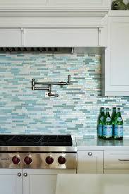 white and blue mosaic kitchen backsplash tiles design ideas