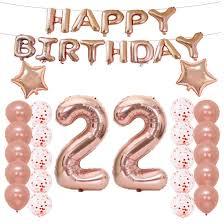 100 Sweet 22 Amazoncom LQQDD Th Birthday Decorations Party Suppliesth