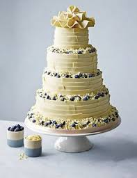 White Chocolate Ribbons Wedding Cake By Marks Spencer