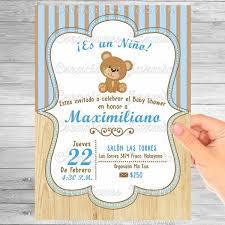 Invitación Digital Osito Baby Shower 5900 En Mercado Libre