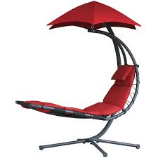 Red Patio Furniture Canada by Amazon Com Vivere Original Dream Lounger Cherry Red Patio