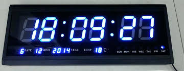 Digital Wall Clock Large Led Big Watch Modern Electronic Calendar Contemporary
