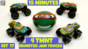 100 Tmnt Monster Truck MONSTER JAM 4 TMNT 15 Minute Super Surprise Egg Set