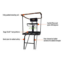 Ladder Tree Deer Stand 16' Swivel Seat Chair Hunting Blind Bow ... Detail Feedback Questions About Folding Cane Chair Portable Walking Director Amazoncom Chama Travel Bag Wolf Gray Sports Outdoors Best Hunting Blind Chairs Adjustable And Swivel Hunters Tech World Gun Rest Helps Hunter Legallyblindgeek Seats 52507 Deer 360 Degree Tripod Camo Shooting Redneck Blinds Guide Gear 593912 Stools Seat The Ultimate Lweight Chama
