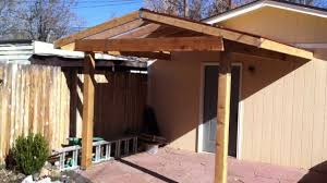 Diy Wood Patio Cover Kits by Building A Patio Cover Patio Cover Install Part 2 Youtube