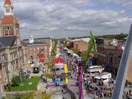 Pumpkin Festival Ohio by Circleville Oh Circleville Pumpkin Show From The Top Of The