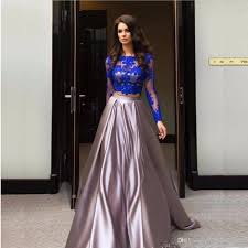 new vintage 2017 a line prom dresses long sleeves two pieces