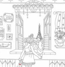 Adult Coloring Pages Books Travel France Craft Indian Prints Color Sheets Needle Points Frances Oconnor