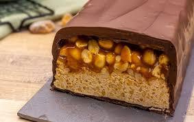 riesen snickers riegel einfach selber gemacht