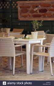 Tables And Chairs Set For Dinner At A Restaurant Or Greek Taverna In ... China White Square Metal Wood Restaurant Table And Chair Set Sp Interior Design Chairs Painted Ding Modern Wooden Fniture 3d Model Sohocg Amazoncom Giantex 3 Pcs Bistro 2 Vintage Stock Photo Edit Now Alinum Outdoor Chair Stool Restaurant Bistro Fniture Cheap 35pc Sets Cafe Dporticus 5piece Industrial Style Shop Costway Kitchen Pub Home Verona 36 Inch