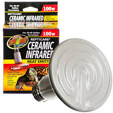 Bearded Heat L Timer by Zoo Med Zoo Med Repticare Ceramic Infrared Heat Emitter Reptile