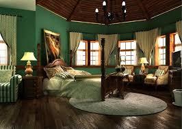 Malaysia Bedroom Interior Decoration In Dark Green Wallpaper New