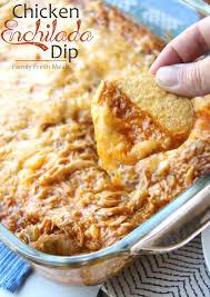 dips cuisine cheesy chicken enchilada dip family fresh meals