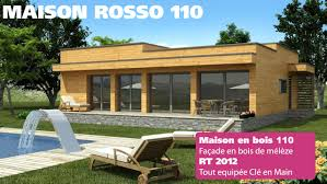 maison en bois prix clé en natura rosso 110