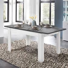 esstisch 160 240cm matt weiß betonoxid dunkel stamford 36 ausziehbar