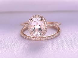 perfect wedding set morganite rose gold diamonds engagement ring