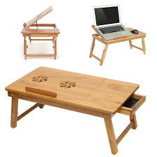 table ordinateur portable canapé de bureau en bambou stand table ordinateur de bureau pliant