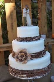 Image Of Rustic Wedding Cake Brisbane