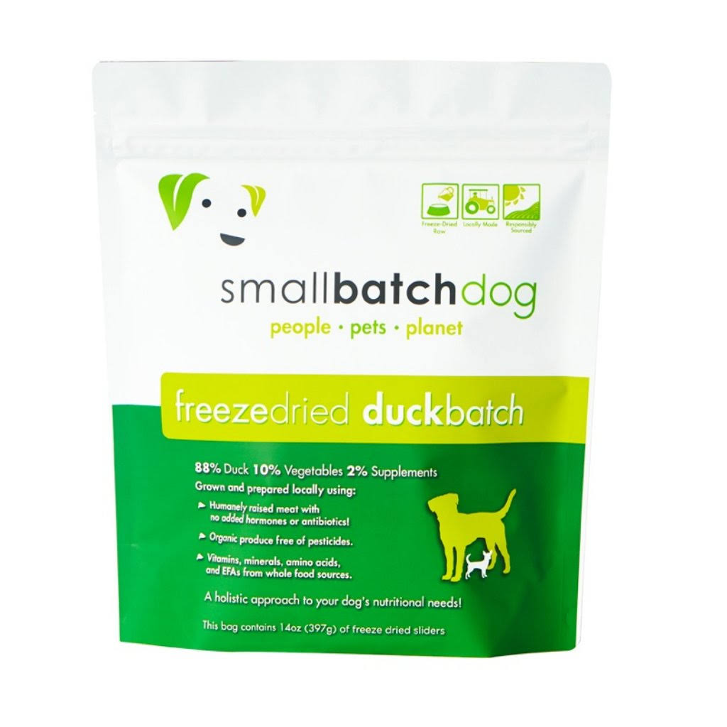 Smallbatch Duck Sliders 14oz Freeze Dried Dog Food