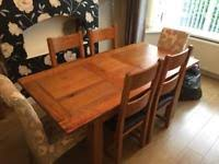 Dining Table And Furniture Oak Wood