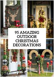 Outdoor Christmas Decorating Ideas Front Porch by 95 Amazing Outdoor Christmas Decorations Christmas Decorating