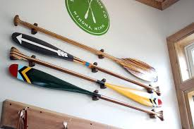 decorative oars and paddles wood paddle hanger sanborn canoe co