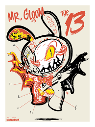 PROMOTION Silk Screen Graphic Design For San Diego ComiCon 4 Color And Final Drawings The 13 Coloring Book Submitted To Kidrobot