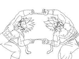 Click To See Printable Version Of Super Saiyan Fusion Coloring Page
