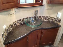 42 Inch Bathroom Vanity With Granite Top by White Cement Floating Bath Vanity Trough Sink And Iron Faucet On