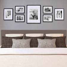 Online 4996 Pinnacle Gallery Perfect 7 Piece Frame Kit Walnut Color Four 6 X 8 Frames Matted To 4 Two 10 5