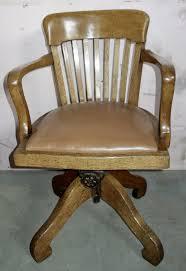 Swivel Oak Solid Oak Desk Chair - Antiques Atlas