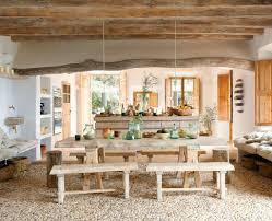 rustic dining table interior design ideas