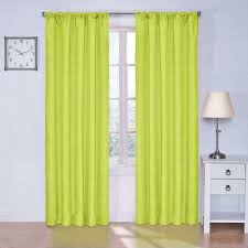 Eclipse Blackout Curtains 95 Inch by Eclipse Kendall Blackout Lime Curtain Panel 63 In Length