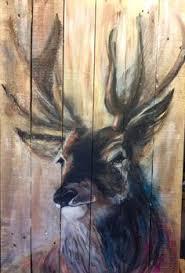 Deer On Wood Pallet PaintingPallet