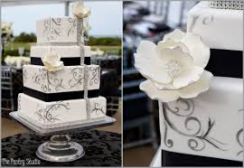 The black and white cake is magnificent